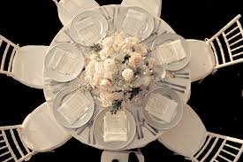 elegant wedding reception venue ivory blush nude wedding flower centerpiece