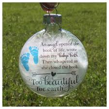 infant loss ornament baby memorial ornament miscarriage by paintedtreasuresbyme