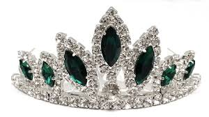 halloween crowns and tiaras amazon com exquisite emerald green crystal prom wedding comb