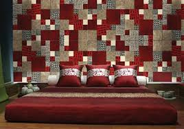 Modern Wall Decor In Patchwork Fabric Style Wall Design Trends - Fabric wall designs