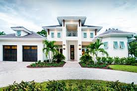 Southern Style House by Olde Naples Beach House With Lateens Tin Roof And Palm Trees