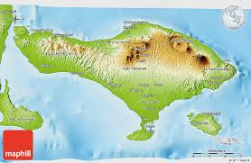 bali indonesia map physical 3d map of bali
