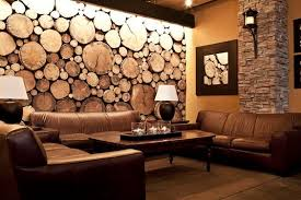 sliced tree trunks wall easy to hang on just nail in