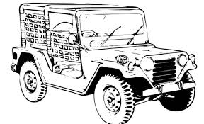 draw army car coloring pages bulk color