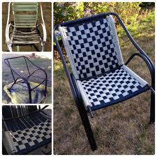 Metal Lawn Chairs Old Fashioned by Transform Old Lawn Chairs Into Brand New Diy Macrame Seats Cute