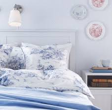 ikea emmie land blue u0026 white toile twin duvet cover french 18th