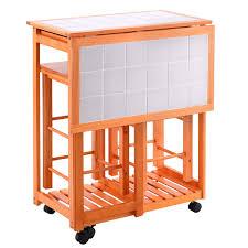 home rolling kitchen island trolley cart drop leaf table w 2