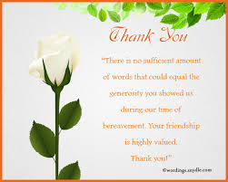 thank you for sympathy card sympathy thank you notes wordings and messages