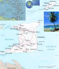 Map Of Trinidad Trinidad Tobago Map Port Of Spain