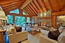 cabin interiors u0026 beautiful kitchen countertops for log homes