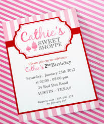 Invitation Card For Reunion Party Diy Printable Invitation Card Sweet Shoppe Birthday Party