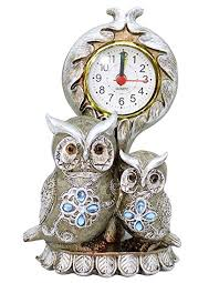 Owl Table L Buy Ribbons Owl Shaped Showpiece Clock For Diwali Home