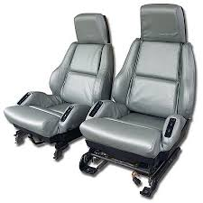 1994 corvette seats c4 corvette 1984 1996 leather like seat covers pair mounted