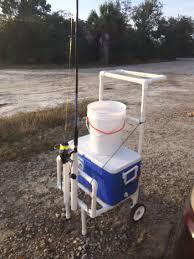 Pvc Pipe Flag Pole Fishing Cart For 80 Bucks All 1