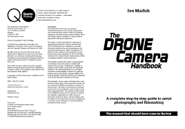 the drone camera handbook a complete step by step guide to aerial