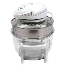 idover halogen convection glass oven 12l with extension ring