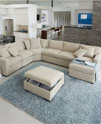 Living Spaces Furniture by Radley Fabric Sectional Sofa Living Room Furniture Collection