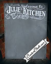 chalkboard ideas for kitchen personalize kitchen sign custom kitchen sign by customchalk for