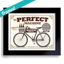 Delivery Gifts For Men Gifts For Men Beer Gift Bike Art Bar Art Framed Bicycle Art