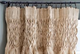 Brown Burlap Curtains Burlap Curtain How To Smock Curtains With Burlap Linen Curtain