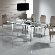 Fine Glass Dining Room Table With Extension Brisbane Decor - Glass dining room table with extension