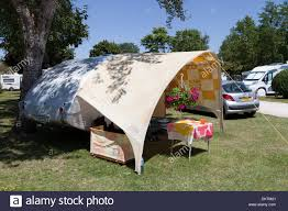 Small Caravan by Small Tab Camping Trailer Caravan With Awning At Le Moulin Fort