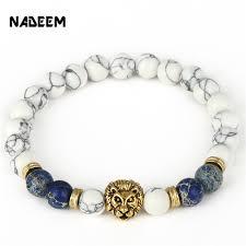 antique beaded bracelet images Drop shipping 8mm lab white howlite stone bead bracelet antique jpg