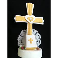 communion cake toppers communion cake topper baptism cake topper communion cross