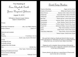 printable wedding program exles of programs for weddings 37 printable wedding program