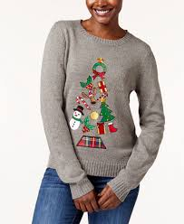 ornament tree sweater created for macy s