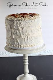 easy 3 layer german chocolate cake with buttercream frosting and