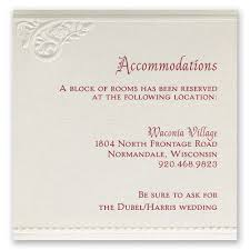 wedding card for wedding accommodation cards invitations by