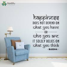 online get cheap buddha wall art sticker aliexpress com alibaba wall decal vinyl sticker quotes happiness yoga studio buddha wall art design decoration bedroom living room decor mural ww 382