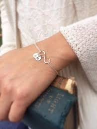 Infinity Bracelet With Initials Personalized Infinity Bracelet With Initials Friendship Bracelet