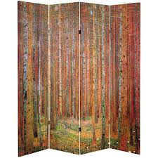 rustic room divider 6 ft tall double sided works of klimt room divider tannenwald