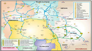 map of roads map of klang valley city roads and highways
