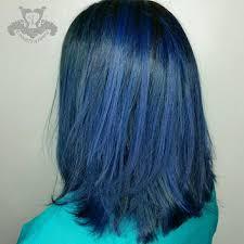 what is a swing bob haircut rich sapphire blue tones long swing bob haircut