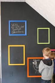 gallery wall ideas playroom interactive chalkboard gallery wall erin spain