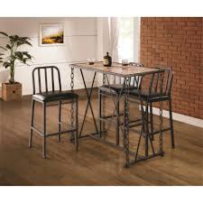 Kitchen Bar Furniture Rustic Industrial Chain Link Bar Table By Coaster Wolf And