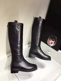 women s street motorcycle boots winter women s shoes knee high boots black leather riding boots 2017