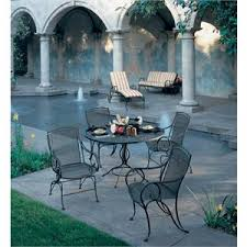 Wrought Iron Patio Dining Set Woodard Modesto Wrought Iron 5 Patio Dining Set