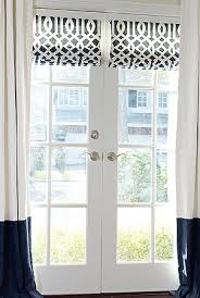 Magnetic Blinds For French Doors Roman Shade Outside Mount On French Door Would Be Great For The