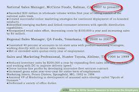 Resumes Online For Employers by How To Write Good Resumes To Impress The Employers 11 Steps
