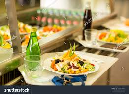 canteen serving tray healthy fresh salad stock photo 102757667