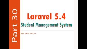 laravel tutorial exle laravel 5 4 student management system export to excel part 30