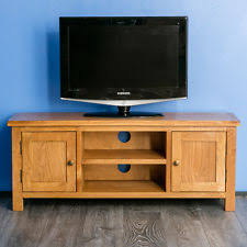 Tv Bench Oak Solid Wood Tv And Entertainment Stands Ebay