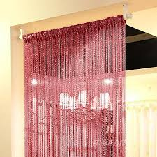 string door curtain fringe beaded window panel beads room divider