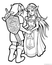 zelda coloring pages link with sword coloring4free coloring4free com
