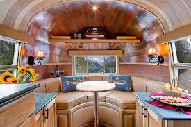 cer trailer kitchen ideas amazing luxury airstream travel trailer interiors decorations