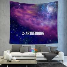 wall murals wall tapestries canvas wall art wall decor tagged galaxy tapestry spiral galaxy on a blue and purple deep space background wall tapestry